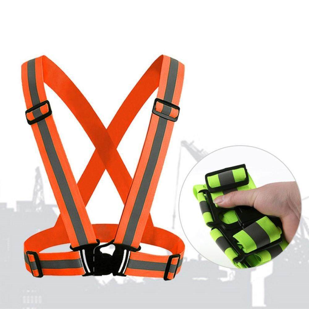 360 Degrees High Visibility Neon Safety Vest Reflective Belt Fit For Running Cycling Sports Outdoor Clothes