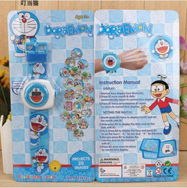 2019 New Cartoon 3D Projection Toy Watch for boys girls kids - Rotary exchange projection 20 Patterns, Popular Digital watches for children, Innovative toy Gift // doraemon Malaysia