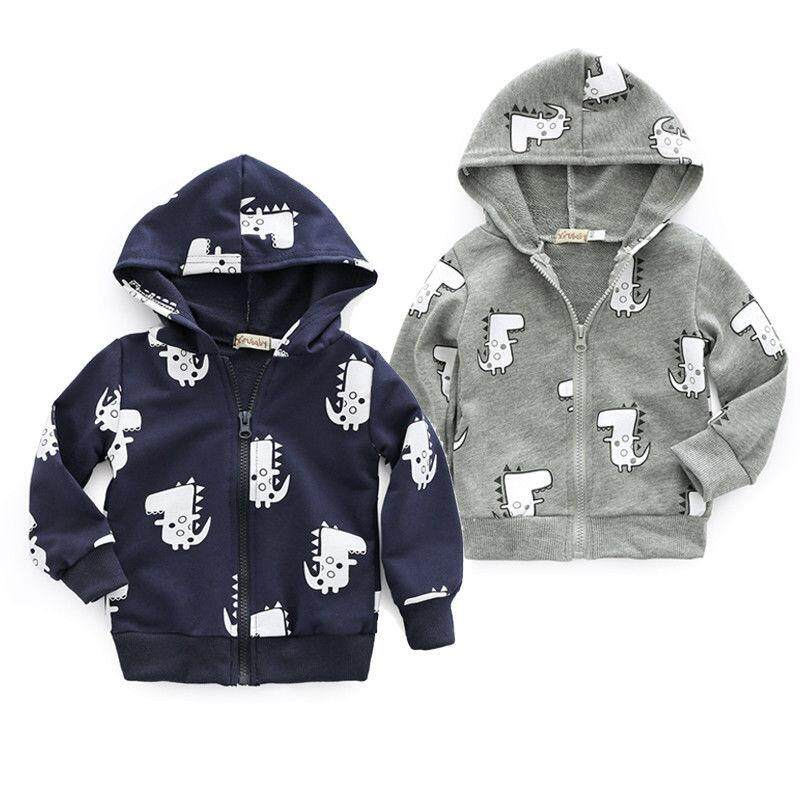 96f50f178 Cute Newborn Baby Boys Jacket Casual Hooded Coat Outerwear Clothes
