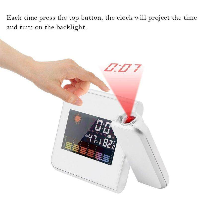 Ytri Digital Projection Alarm Clock Weather Station With Temperature Thermometer Humidity Hygrometer/bedside Wake Up Clock By Ytri.