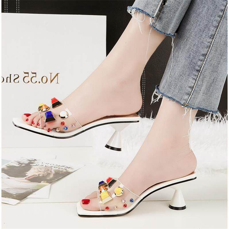 546d3133681a 2018 Summer Woman Open Toe Sandal Lace Dress Casual Elegant Non-slip Shoes  High Heels