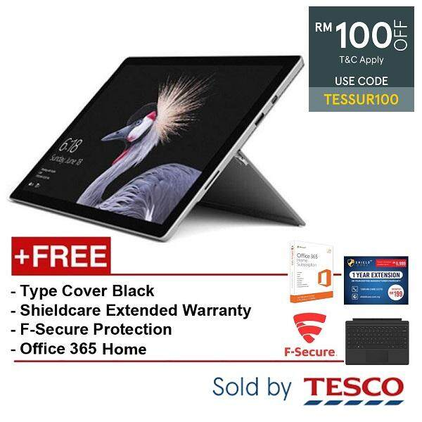 Microsoft Surface Pro (FJZ-00012) i5 / 8GB / 256GB + Type Cover Black + Extended Warranty + F-Secure + Office 365Home Malaysia