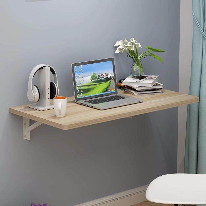 Wall Mounted Foldable Table Wooden White Color