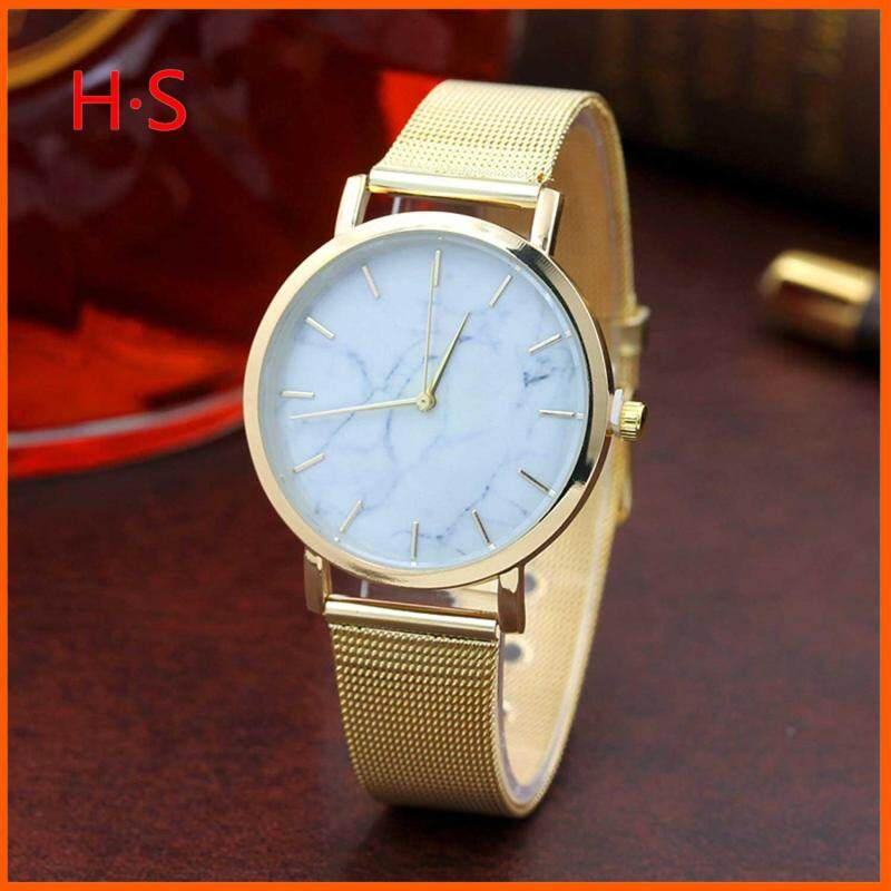 Steel ribbon wristwatch women Ladies Quartz Analog Watch style watches Fashion Women Sport Watch Malaysia