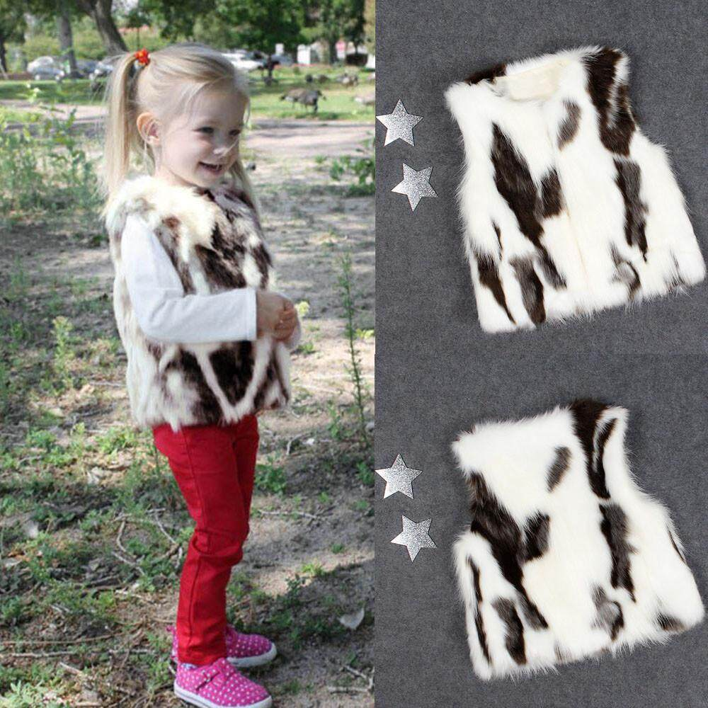 Tideshop Toddler Kids Baby Girl Winter Warm Clothes Faux Fur Waistcoat Thick Coat Outwear By Tideshop.