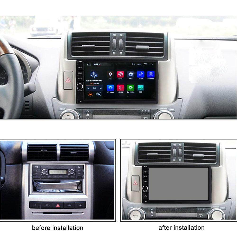 Ezonetronics 2 DIN Android 9 0 Car Multimedia Player 7 inch Touch Screen  AM/FM Stereo Radio GPS Navigation Bluetooth SD USB——RM-CT0012-2