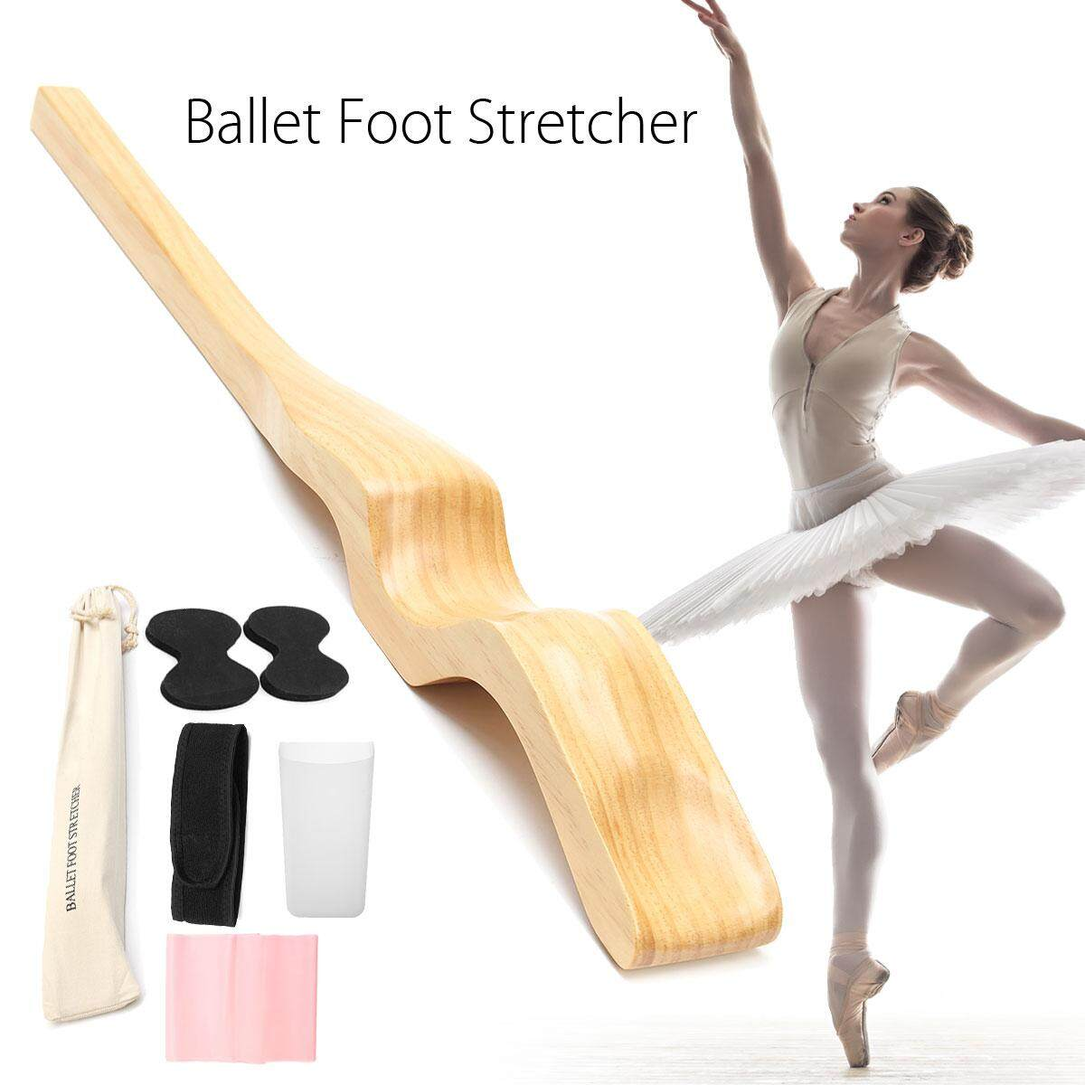 Wood Ballet Foot Stretch Stretcher Arch Enhancer Dance Gymnastics Elastic Band By Audew.