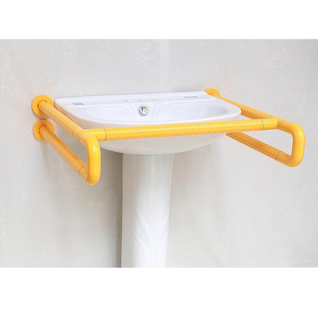 MagiDeal Anti-Slip Bathroom Grab Bars Handrail Elderly Disabled Safety Handle Yellow