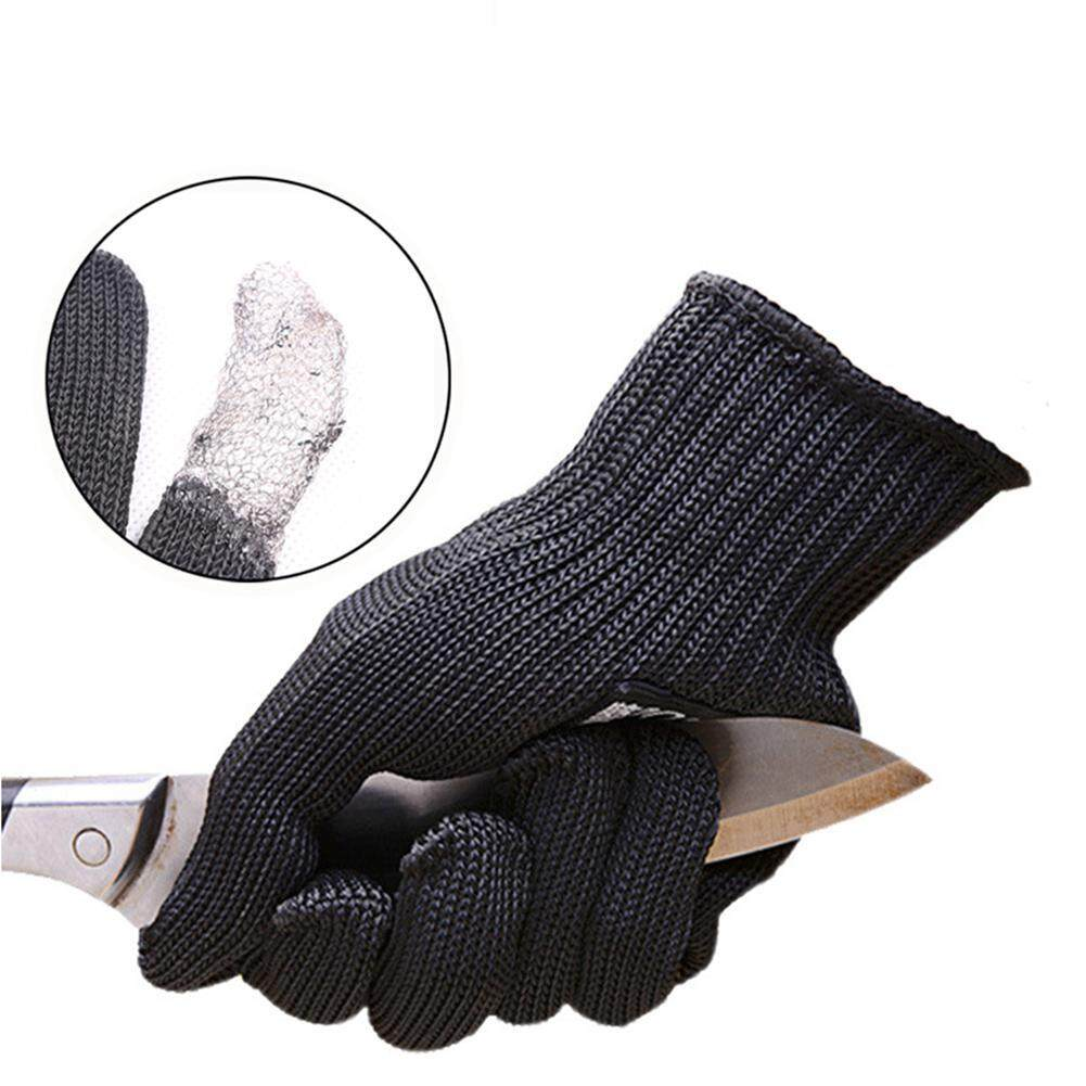 DS-Mart Anti-cut Outdoor Fishing Hunting Gloves Cut Resistant Protective Anti-cutting Protection Steel Wire Mesh Gloves