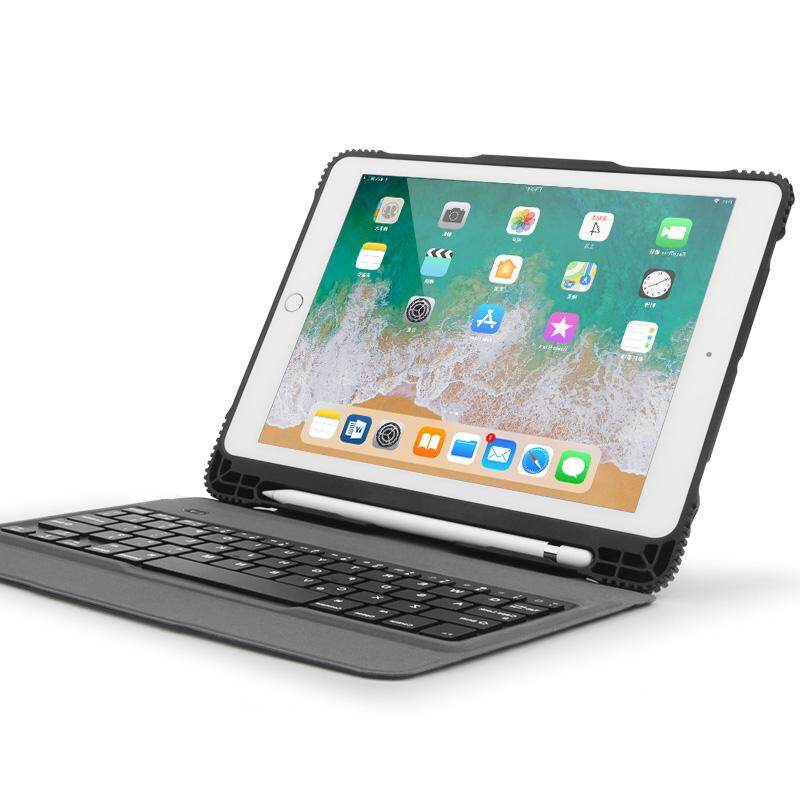 "Ipad Keyboard Case For New Ipad 9.7"" 2018&2017, Ipad Pro 9.7, Ipad Air/air 2, Ultra-Thin Bluetooth Keyboard Case With Built-In Stand And Pencil Holder, Lightweight, Black By Swallows Home."