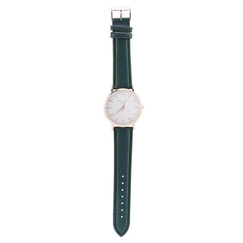 4Colors Women Quartz Analog Wrist Watch Round Thin Dial PU Band Wristwatch Malaysia