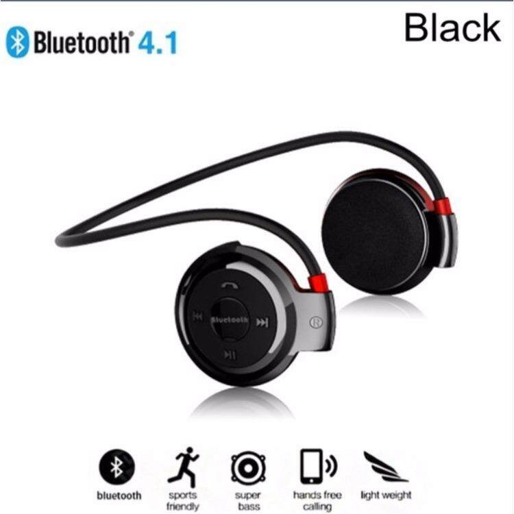 Mini Outdoor Portable Neckband Bluetooth Headphones Wireless Sweatproof Running Sport Headset Stereo Earphone with Microphone Support