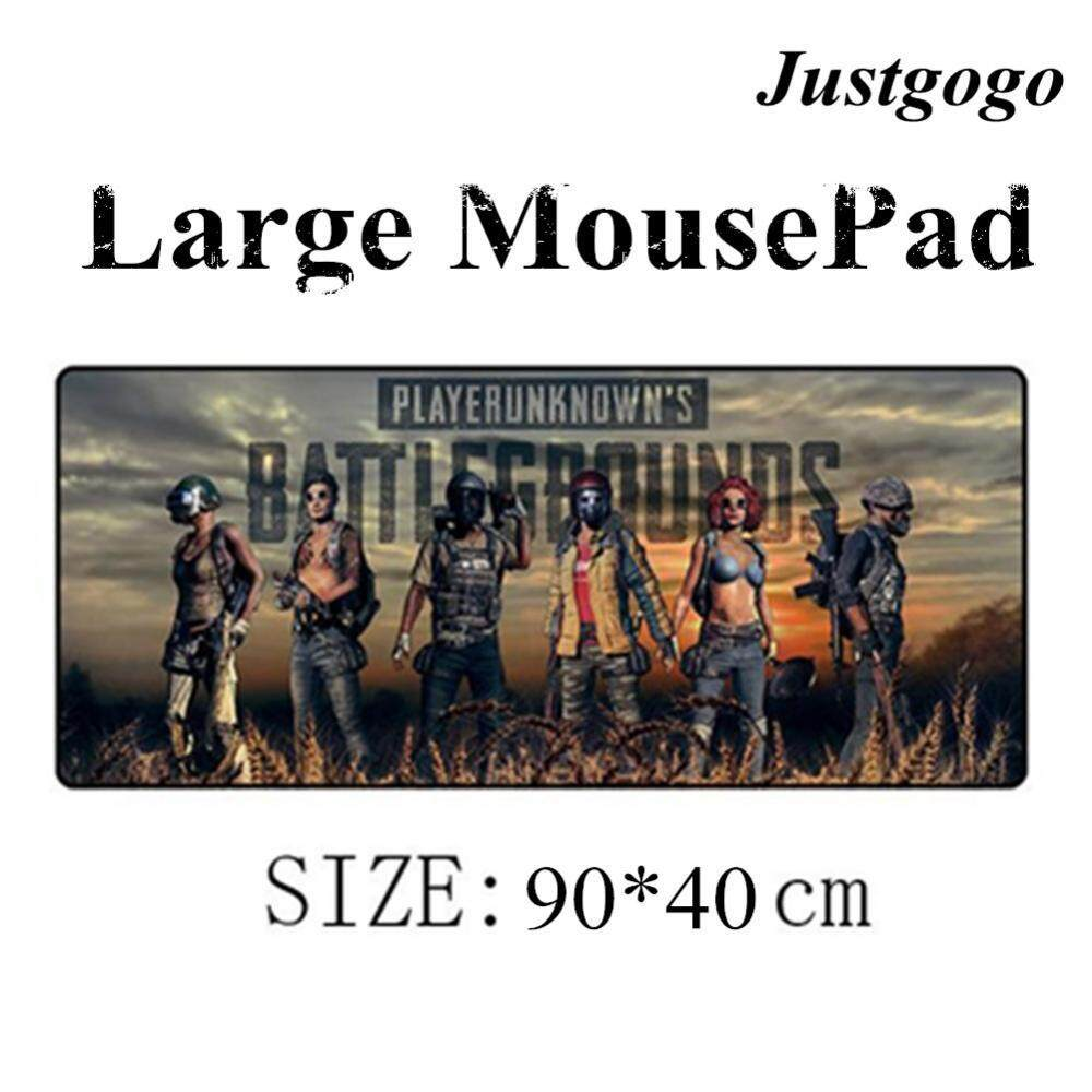 【Clearance Sale】Justgogo Mousepad Rubber Anti-slip Overlocking Gaming Mouse Pad Table Desk Mat Mousepad for PUBG 90 * 40 * 0.3cm Malaysia