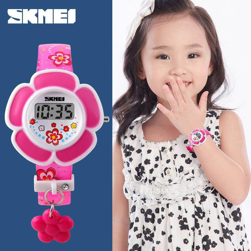 SKMEI New Style Is Not Waterproof Fashionable Lovely Flower Shaped Childrens Electronic Watch Boys Girls Watch.1144 Malaysia