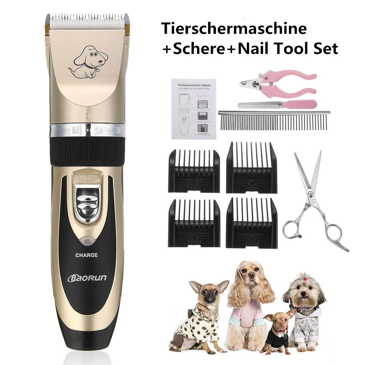 Professional Cordless Pet Dog Cat Electric Hair Clipper Trimmer Kit Grooming Set