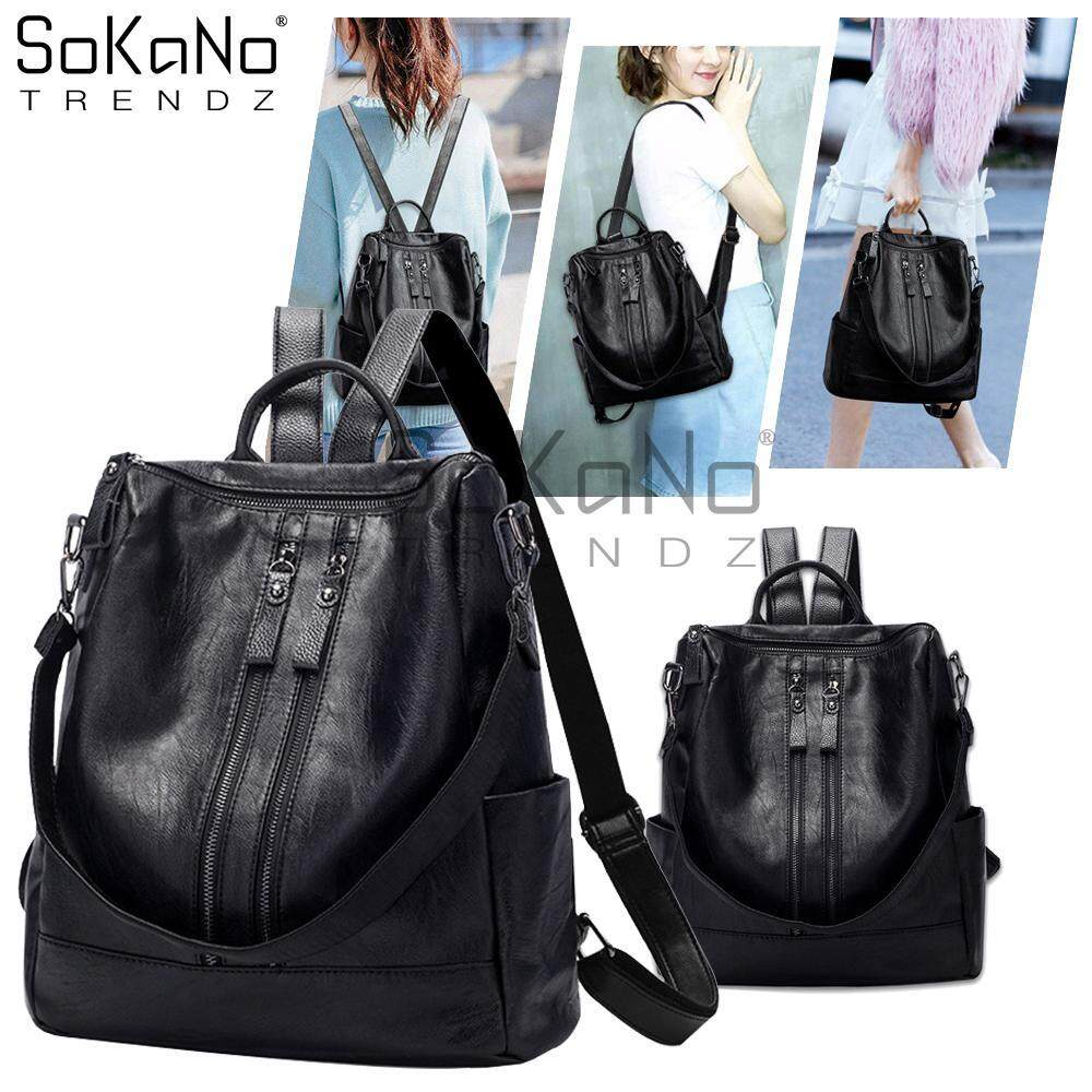 Women Backpacks Buy At Best Price In Malaysia Tas Ransel Distro Backpack Traveling Lots Of Pockets Sokano Trendz Skn764 2866 Double Strap Pu Leather