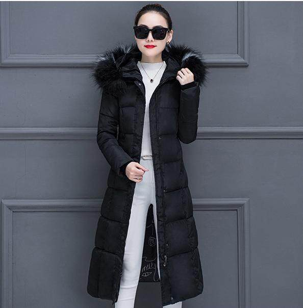 23aa35702d86 2018 Women Winter Jacket New Feminina Long Down Jacket Plus Size Long  Hooded Duck Down Coat