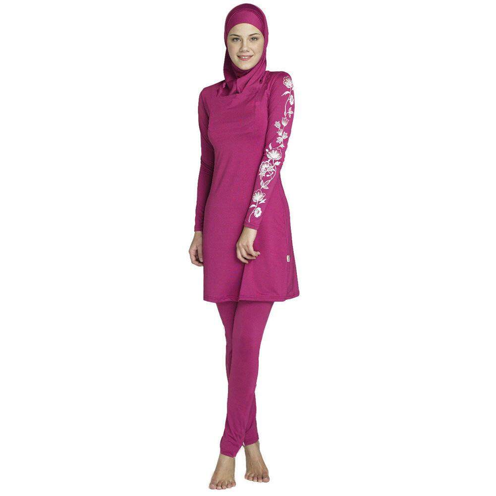 ccbbaec3bbb Full Cover Muslim Swimwear for Women Modest Burkini Islamic Swimsuits With  Hijab SPF