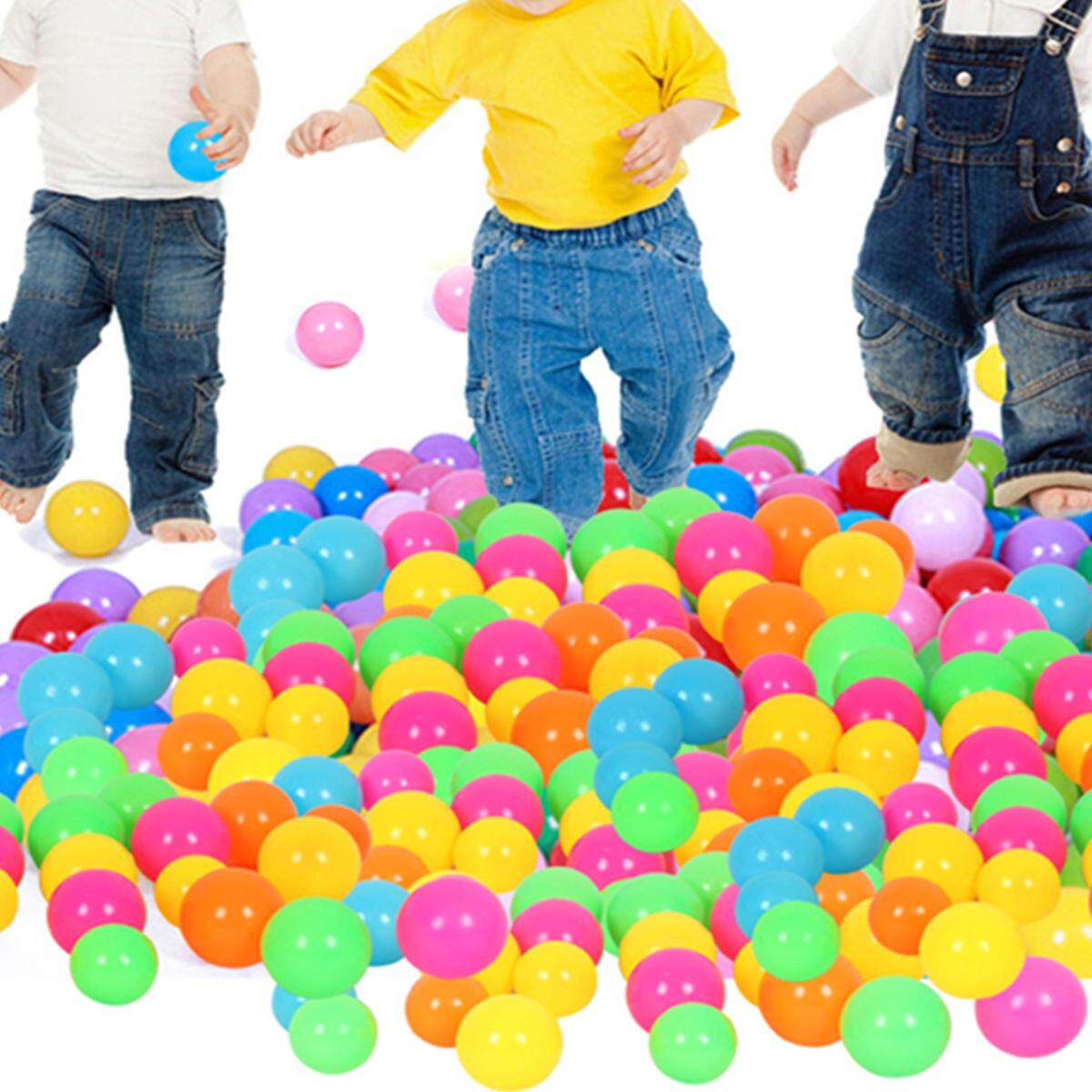 100pcs Colorful Ocean Balls Soft Plastic Baby Children Kids Swim Toy Au  7cm By Freebang.