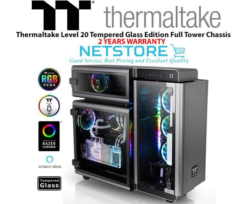 Thermaltake Level 20 TG Tempered Glass Edition Full Tower Chassis PC Case CA-1J9-00F9WN-00 Malaysia