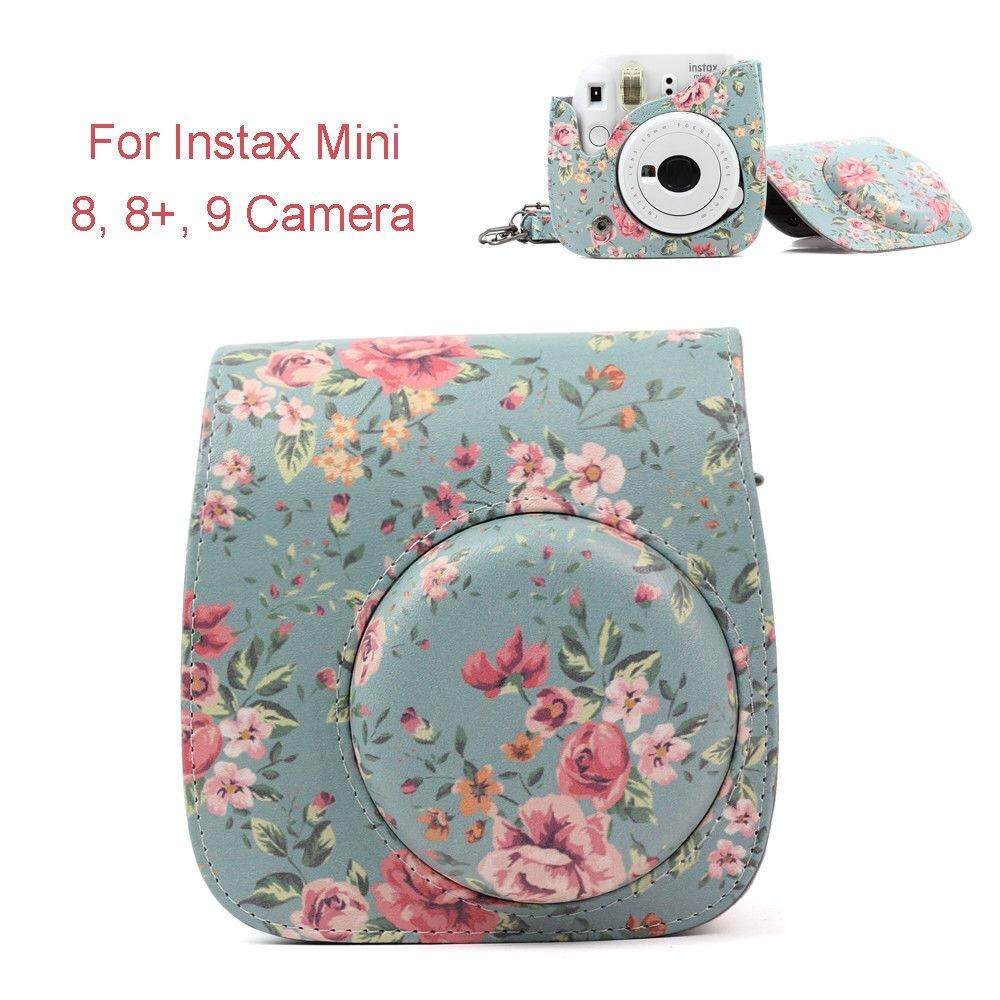 For Fujifilm Instax Mini 8 9 Camera Pu Carrying Shoulder Bag Case Cover W/strap By Misuta.