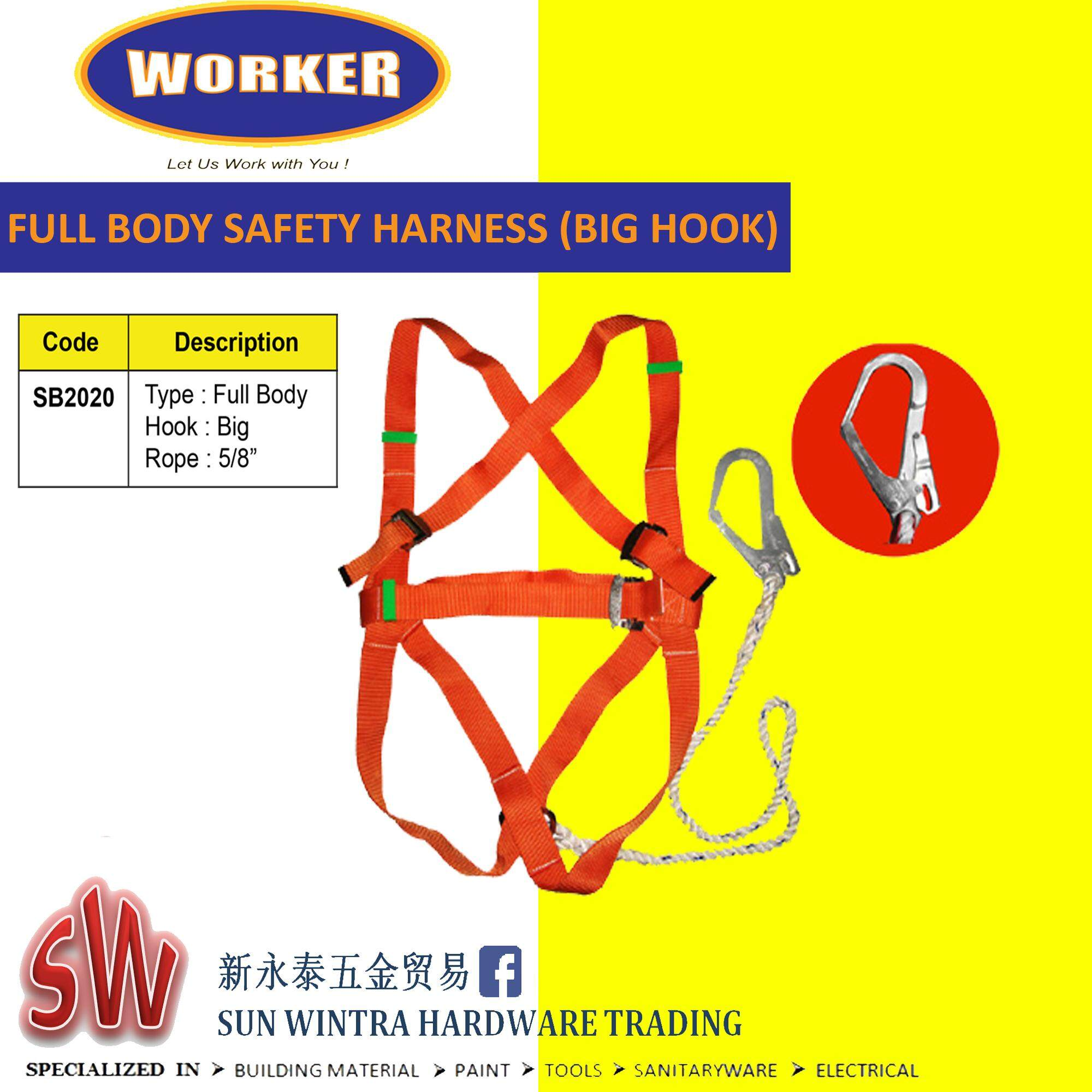 Worker Full Body Safety Harness (Big Hook) #2020