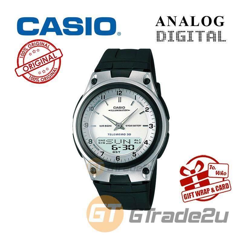 CASIO STANDARD AW-80-7A Analog Digital Watch  Wolrd Time 10Yrs Batt Malaysia