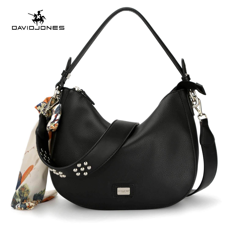 89629bb75f3 DAVIDJONES women shoulder bag pu leather female crossbody bag small lady  scarve shoulder bag girl casual