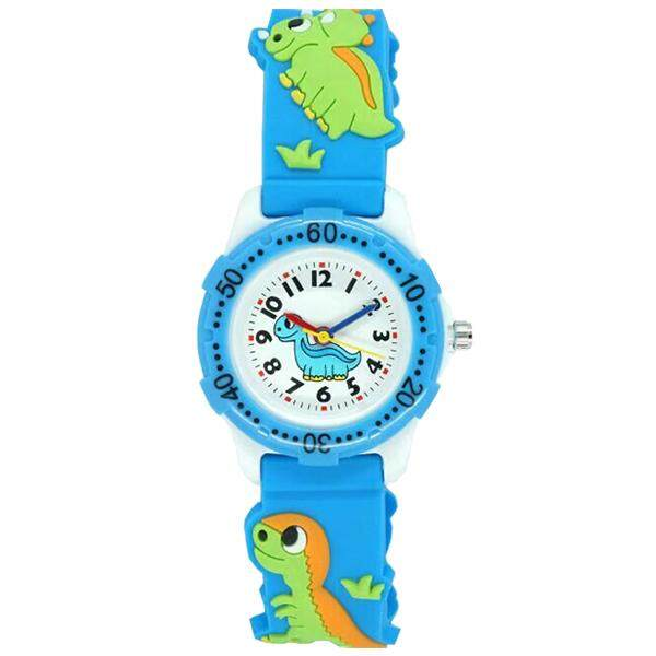 WILLIS Kids Time watch Pattern Plastic Shell Silicone Strap Cartoon Watch blue Malaysia