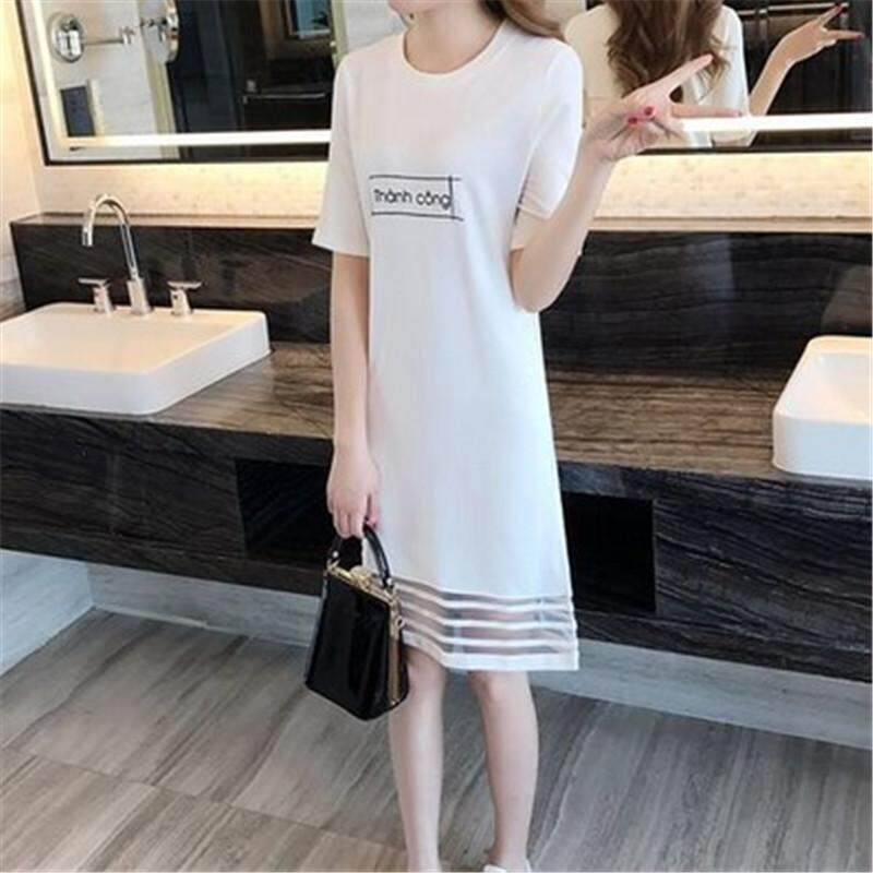5d771c868574 Summer new Korean version of the ladies fashion casual loose round neck  print short-sleeved