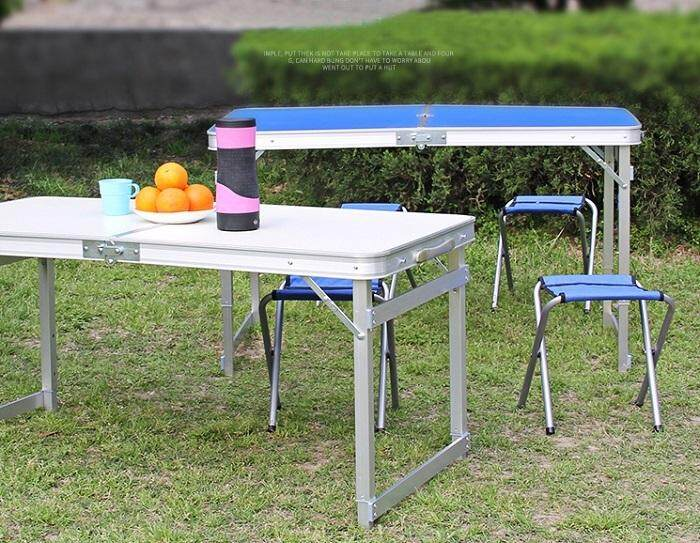 Foldable Folding Table Camping Table Lightweight Aluminium Table Outdoor Stall Picnic Table Multi Purpose Easy
