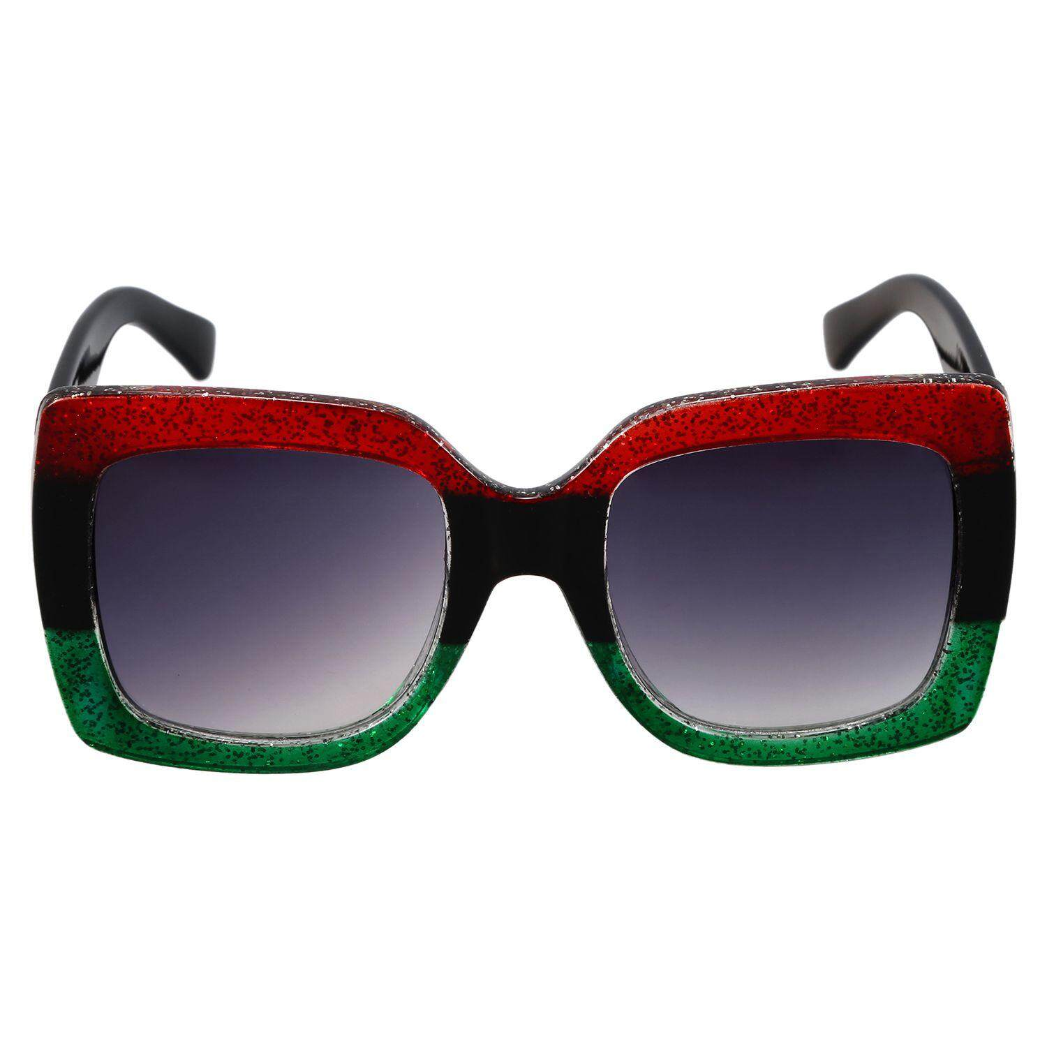 e2fa5076ac3 Square Sunglasses Women Vintage Oversized SunGlasses Luxury Ladies Eyewear  S17069 Red Black Green