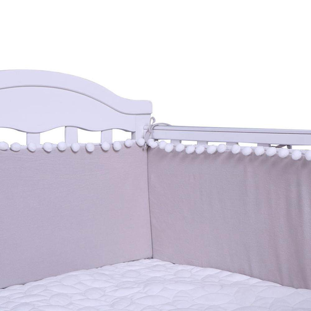 Sealavender 4pcs Breathable Crib Bumper Pads For Standard Cribs 132x68, Machine Washable Padded Crib Liner For Babies, Safe And Soft Crib Rail Padding By Sealavender.