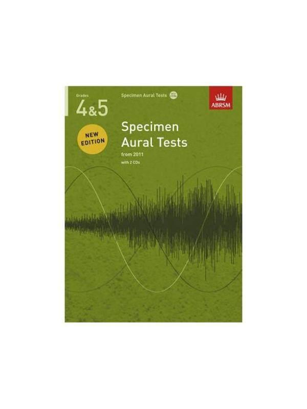 ABRSM SPECIMEN AURAL TESTS - GRADES 4-5 (2011+) BOOK/2 CDS Malaysia