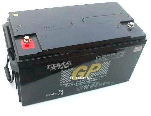 GP 12V 65AH Rechargeable Sealed Lead Acid Battery For Electric Scooter/ Toys car / Bike /Solar /Alarm /Autogate/solar Malaysia