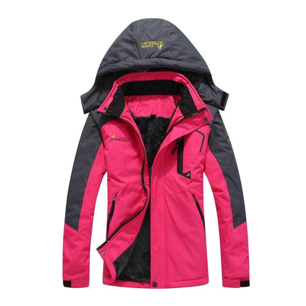 Large Size Female Women Mountain Waterproof Ski Jacket Windproof Rain  Winter Inner Fleece Waterproof Jacket Outdoor 18a2caf2be