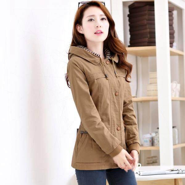 Korean-Style Women Spring And Autumn New Style Top Short Women Jackets & Coats (khaki) By Trqtcjq.