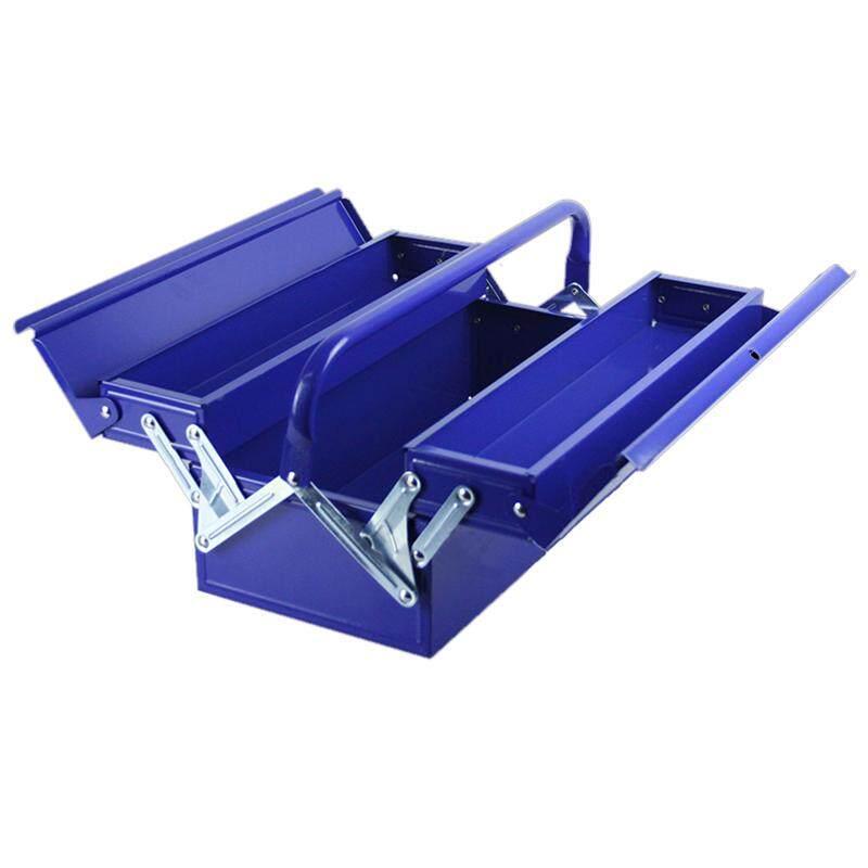 Heavy Duty Metal Cantilever Tool Box Tool Storage 2 Tier 42cmx20cmx16cm blue