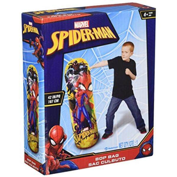 Hedstrom Spider-Man Bop Inflatable Punching Bag, Red, 42 By Buyhole.