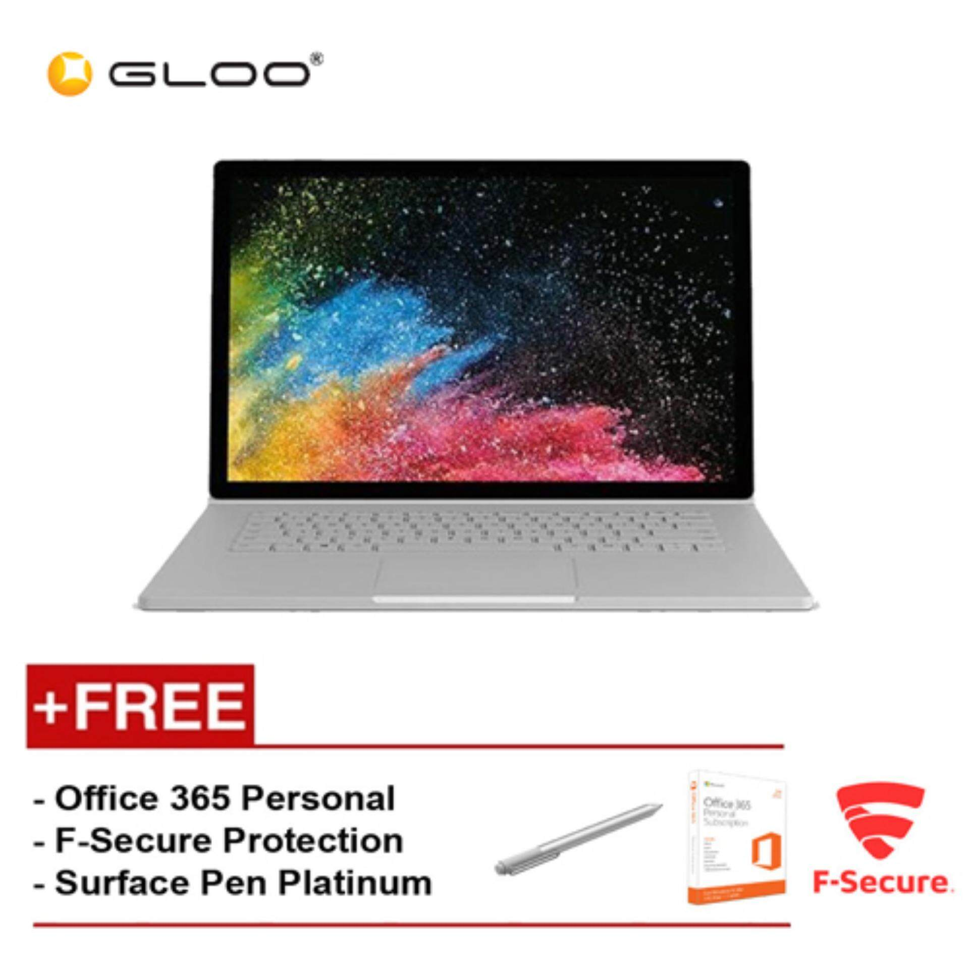 Surface Book 2 13 Core i5/8GB RAM - 256GB [FREE F-Secure End Point Protection + Off 365 Personal + Microsoft Surface Pen Platinum] Malaysia