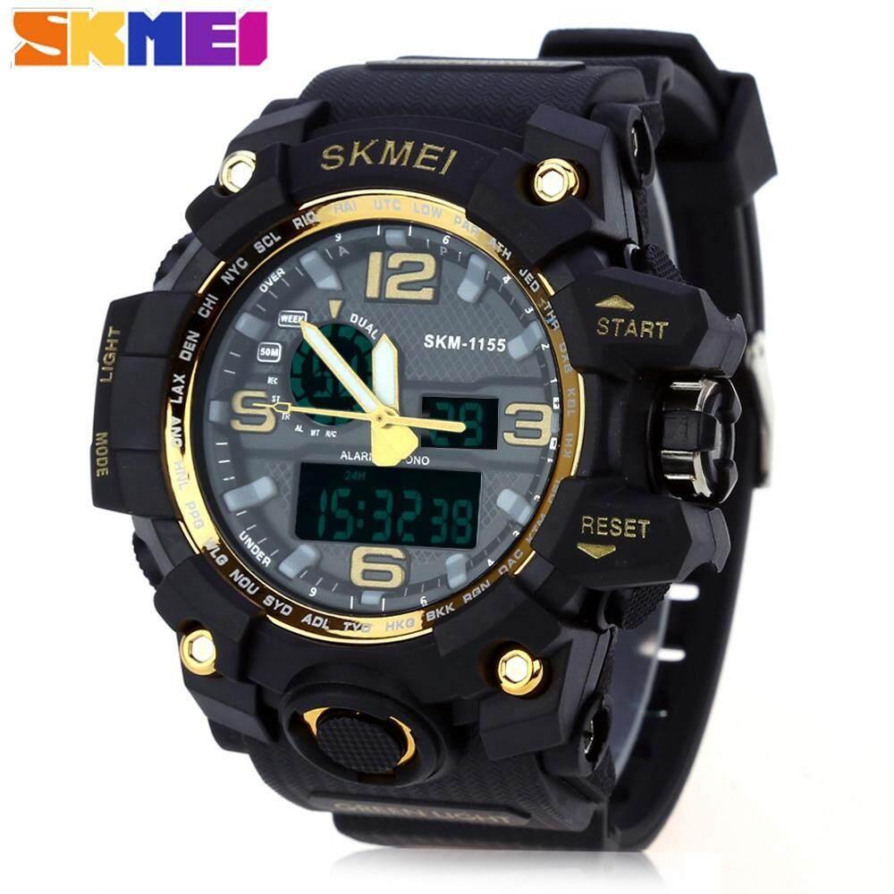 SKMEI 1155 Men Double Movement Watch Water Resistance Dual Time Day Alarm Light Wristwatch Malaysia