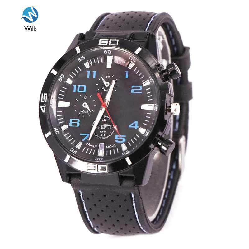 Men Boys Casual Sport Watch Silicone Band Quartz Wristwatches Dress Watch Malaysia