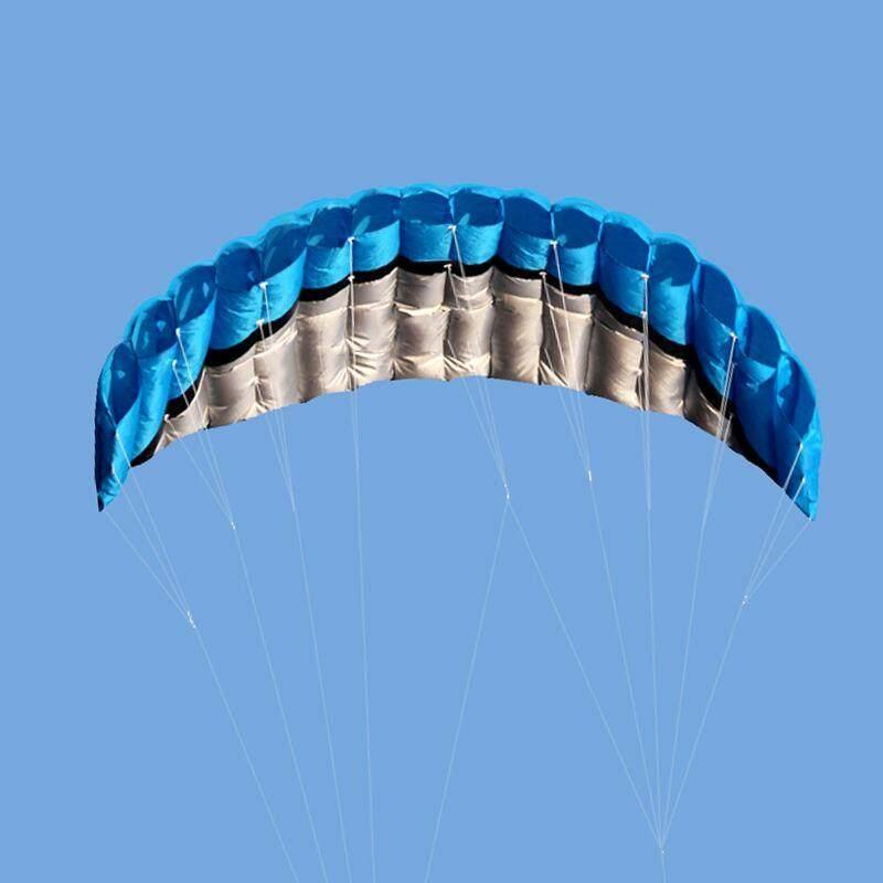 Portable Outdoor Dual Line Stunt Parafoil Parachute Sport Beach Kite 2.5m W/ Bag By Moyaa.