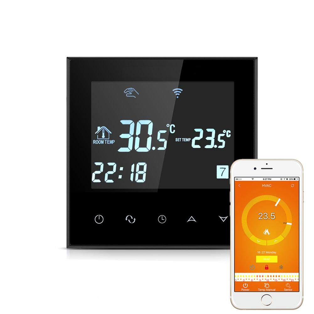 MG WIFI Thermostat for Water Heating Smart Programmable Temperature Controller with Glass Touch Screen