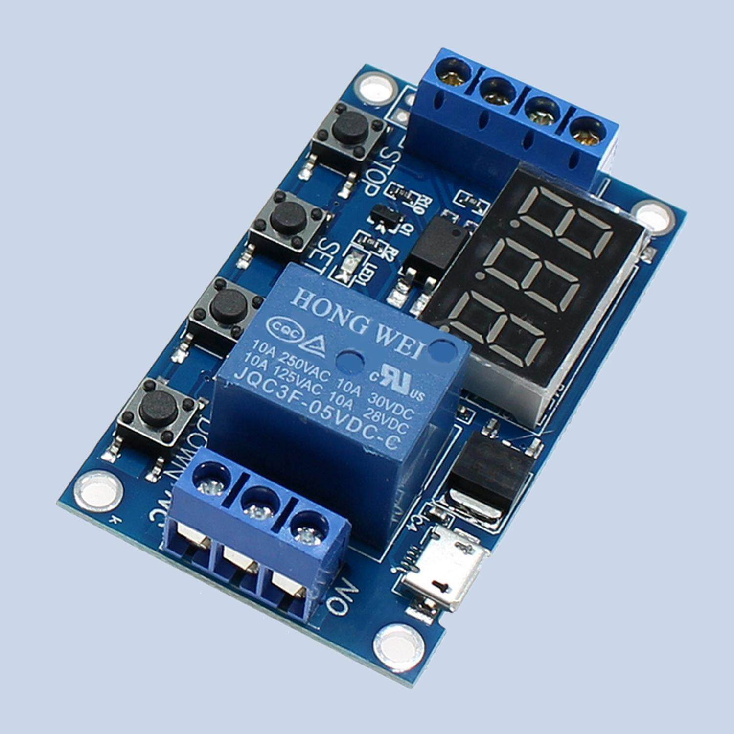 6-30v Micro Usb Support Relay Timer Cycle Module Switch Trigger Time Delay Circuit Board By Jelly Store.