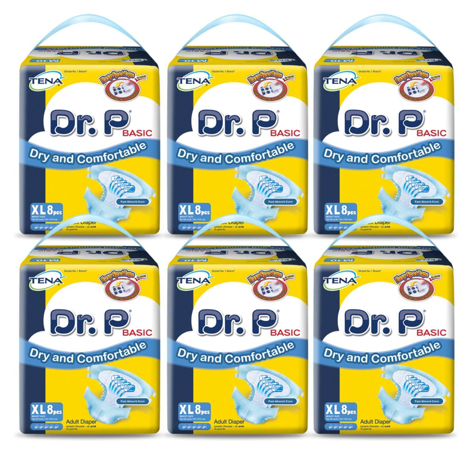 Tena Products For The Best Prices In Malaysia Popok Dewasa Compidence Xl15 Dr P Basic Adult Diapers Xl 8s X 6 Packs