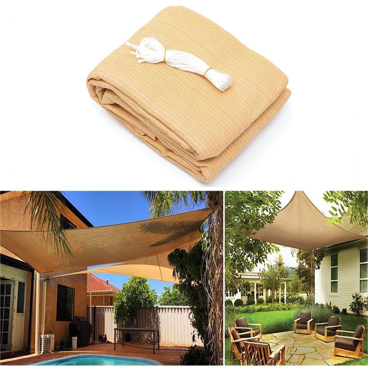 3*4m 280gsm Hdpe Sun Shade Sail Cloth Canopy Awning Shelter Outdoor By Glimmer.