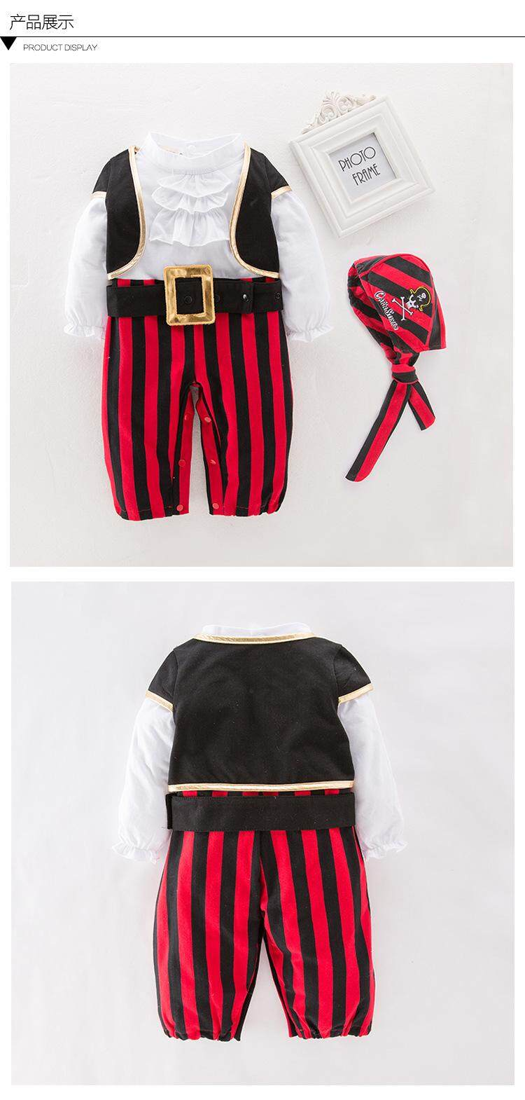 60a4152baa275 Pirate Cosplay Clothes for Baby Boy Halloween Christmas Fancy Clothes  Halloween Costume for Kids Children Pirate Costume