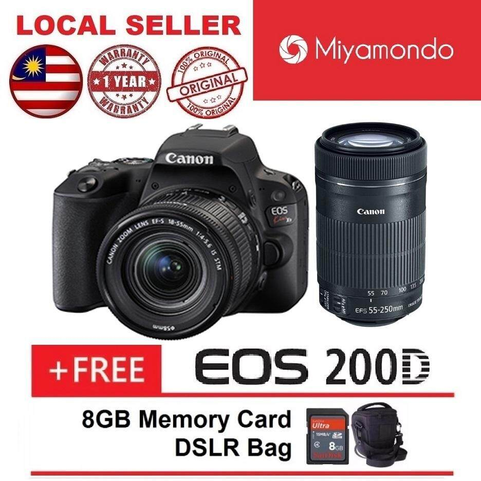 Canon Cameras Dslrs Slrs Price In Malaysia Best Kamera Eos 1300d 18 55 Iii 200d Kiss X9 Black With 55mm 250mm