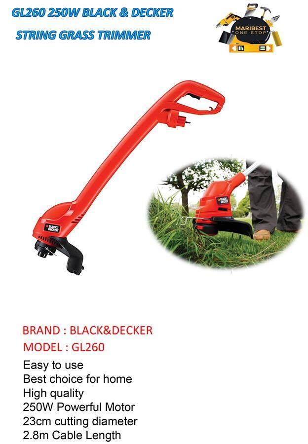 GL260 250W BLACK & DECKER STRING GRASS TRIMMER